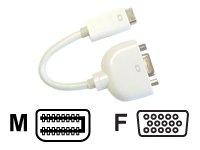 Jou Jye Computer mini DVI plug 32p / VGA jack 15p, 0.1m 0.1m VGA (D-Sub) Color blanco - adaptadores de cable de vídeo (0.1m, VGA (D-Sub), Color blanco)