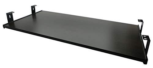 FIX&EASY Tastaturauszug mit Tastaurablage 800X300mm Wenge Dekor, Auszugschienen schwarz 300mm, Set Ablage mit Auszug für Tastatur Maus Keyboard Laptop