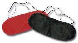 2 Schlafmasken Augenmaske Schlafbrille Augenbinde rot und schwarz !