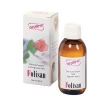 Depileve Folisan, Gesichts- und Körperlotion, gegen Rasurbrand, eingewachsene Haare, 150ml (Bein-peeling)