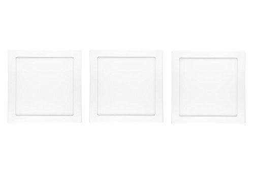 NuLoXx 3er Pack LED Panel Square Surface mounted (Aufputzmontage)18W/760 6000K kaltweiß(Tageslicht) 1350LM AC 80…260V, 120° Abstrahlwinkel, Deckenleuchte ersetzt 40 Watt, Herstellergarantie: 2 JAHRE!!