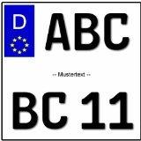 EU Motorrad Kennzeichen 180x200mm