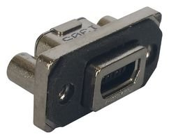 AMPHENOL ICC (COMMERCIAL PRODUCTS) Mini USB, 2.0 Type AB, RCPT, TH MUSBE15104 - Icc-mini
