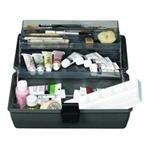 Artbin Upscale 2 Tray Box Art Tote-14.5x8x7 Slate Grey by ArtBin -