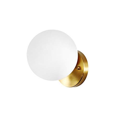 LED Creative Wandleuchte Modern Persönlichkeit Innen Art Deco Wandlampe Runde Ball Glas Lampenschirm Kupfer Metall Eisen Halterung Nachtbeleuchtung E27 MAX 60W