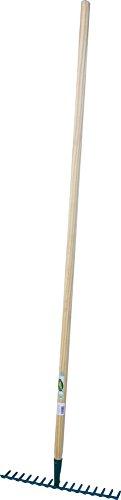 Cap Vert - Râteau soudé dents courbes / Emmanché 1,50 m - 16 dents