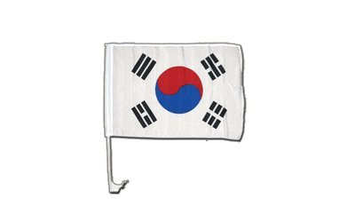 Autofahne Autoflagge Südkorea - 30 x 40 cm