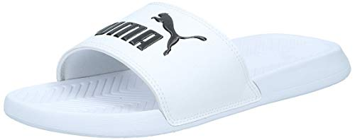 PUMA Popcat, Zapatos de Playa y Piscina Unisex Adulto, White Black, 43 EU
