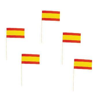 PARTY DISCOUNT ® Party-Picker Spanien 50 Stück (Für Eine Halloween-party Speisen Leichte)
