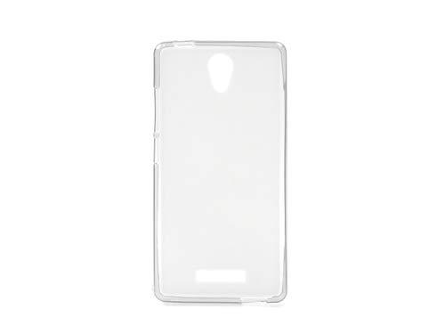 etuo Allview P6 Energy Lite - Hülle FLEXmat Case - Weiß - Handyhülle Schutzhülle Etui Case Cover Tasche für Handy