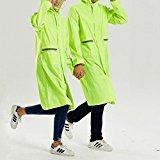 Preisvergleich Produktbild Maovii Damen Herren Paar Outdoor Funktions Langform Wasserdichte Parka Regenmantel Regenbekleidung Sport Jacke Mit Kapuze Tasche Atmungsaktiv (EU 38(Herstellergröße:M), Grün)
