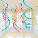 Multi Coloured Swirl Decorations, Pac...