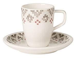 Villeroy & Boch Artesano Montagne Tasse Espresso conper Haute, 2 pièces, Porcelaine, Multicolore