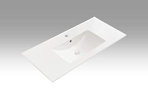tft Lavabo Rettangolare da Incasso in Ceramica 101x46,5x2cm Bianco