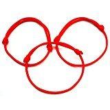 Juego de 3pulseras Cábala (cuerda rojo