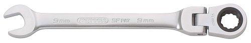 KS TOOLS 503.4713 Clé mixte à cliquet tete inclinable CHROMEPlus, 72 DENTS 13 mm