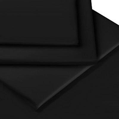 Preisvergleich Produktbild Linens Limited Polycotton Bügelfreies Bettlaken Perkal 180Fadenzahl Spannbetttuch, schwarz, Super King