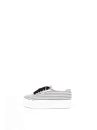Superga S00FKS0 Sneakers Donna Bianco-Righe Nere 36