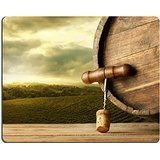 MSD-Tappetino per mouse in gomma naturale, gioco foto ID: 27916118 Cavatappi in legno, fusto e dettaglio con vigneti paesaggio rurale su sfondo