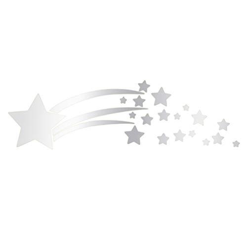 ndaufkleber Moderne Wandtattoos Stil Wandbilder Abnehmbare Wandtattoo Aufkleber Kunstwand Home Wandsticker Zimmer Diy Dekor Wandaufkleber, Dekoration 180 * 600mm (Silber) ()