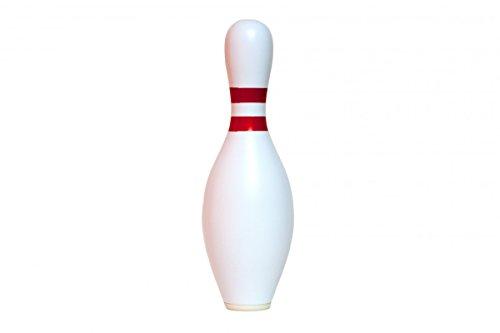 Große Spardose für Kinder, Jungen und Mädchen in Bowling Pin Form aus Kunststoff - wiederverschließbar 37x12cm