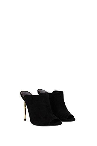 215W1482TSUEBLK Tom Ford Sandale Femme Chamois Noir Noir