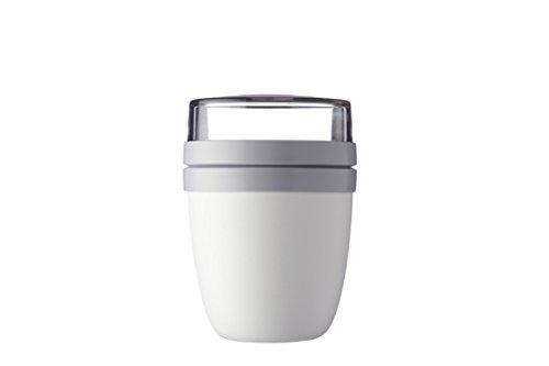 Rosti Mepal Lunch Pot Ellipse weiß Lunchbox Essensdose (Geschirrspüler 24 Weiß)