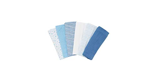 Mothercare Patterned Muslin Cloths, Multicolor (Pack of 6)