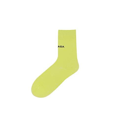 DUJUN Socken für Sie und Ihn - Cotton classic bequem ohne drückende Naht - angenehmer Komfort-Bund,Bonbonfarben Männer und Frauen Baumwollsocken Wild Letter Socken 5 Paar A1 36-43 -