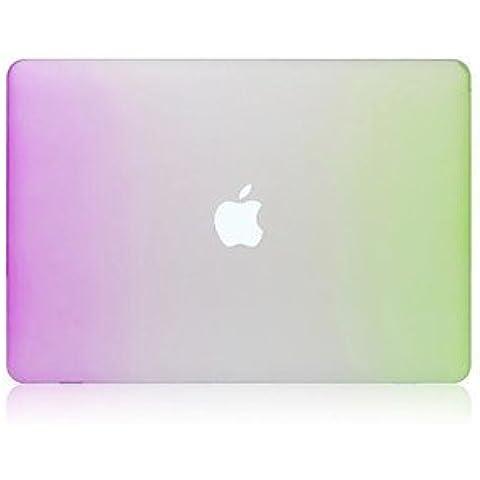 2015 el más nuevo plástico arco iris caso de alta calidad mate de cuerpo completo para el MacBook Air de 13,3 pulgadas (colores surtidos) ( Color : Orange