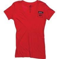 Preisvergleich Produktbild Honda V Ausschnitt T-Shirt Damen Kies - Rot, L 36 Brust