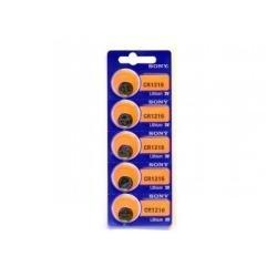 Sony cr1216bea – Pack de 5 piles pour Calculadoras et autres appareils électroniques