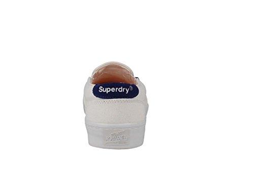 WHITE SUPERDRY ESPADRILLE GF1MS007F1-04C Blanc