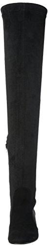 Buffalo London 4005-55212 KID SUEDE STRECH - Stivali sopra il ginocchio Donna Nero (black 01)