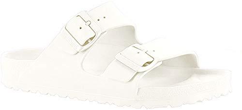 Birkenstock Unisex-Erwachsene Arizona EVA Pantoletten, Weiß (White 43), 40 EU