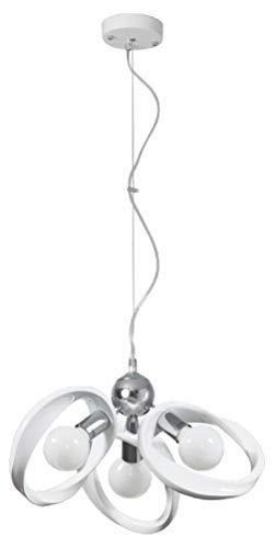 Lampe à suspension Plafonnie Lustre Chandelier Lampadaire Applique Plafonnier Lustre Lampe sur pied Emma Chandelier 3 blanc