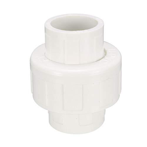 sourcing map 4 Stk.PVC Rohr Union Solvent Steckdose Schnelle Verbinder 20mm Gleitx20mm Gleit de -