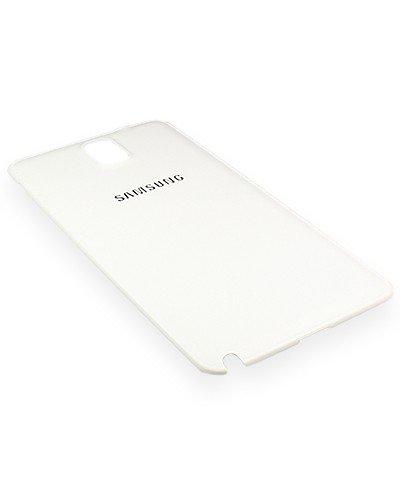 Original Samsung Akkudeckel für das Samsung N9005 Galaxy Note 3 - white / weiß in Lederoptik (Akkufachdeckel, Batterieabdeckung, Rückseite, Back-Cover) - GH98-29019B / GH98-29605B