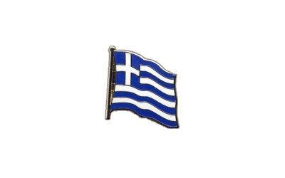 Flaggen-Pin/Anstecker Griechenland vergoldet