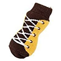 Ocamo Calcetines del Perro pequeño como Peluche/caniche, Calcetines para protejer los pies de Perro