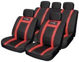 Best Car Seat Covers - Streetwize SWUXSC5 Red Leather Look Seat Cover Set Review