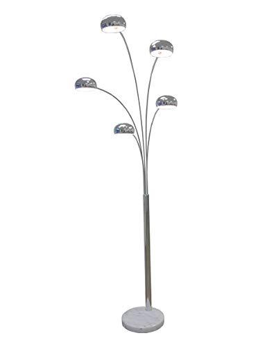 große Five Fingers Bogenlampe, Top Quality, chrom, 220cm hoch, 10151 -