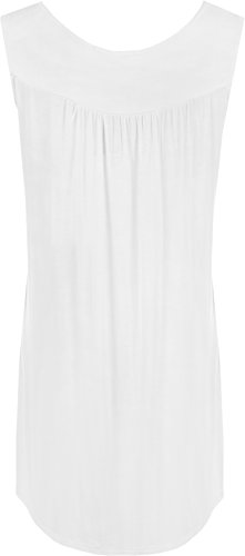 WearAll - Haut sans manches avec détail clouté sur la poitrine - Hauts - Femmes - Grandes tailles 40 à 54 Blanc