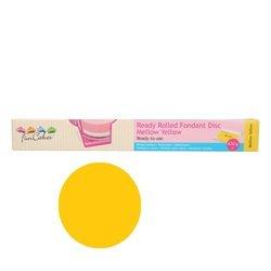 Funcakes - Pasta di zucchero pronta all'uso, colore giallo