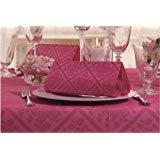 50 Servietten, stoffähnlich, Airlaid 1/4-Falz 40 cm x 40 cm Ornaments Fuchsia pink violett für Hochzeit Verlobung Taufe ...