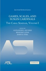 games-scales-and-suslin-cardinals-the-cabal-seminar-volume-i