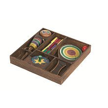 ique Replica Wooden Games in Display Box Set (Yo-Yo, Spinning Top, Paddle Ball, Jacob's Ladder, & Ball Catch) by Toys R Us (Ladder Ball Bälle)