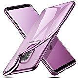 ESR Hülle für Samsung Galaxy S9 Plus S9+, Transparent Silikon Handyhülle Bumper Durchsichtig TPU Schutzhülle fü S9 Plus 6,2 Zoll 2018(Lila Rahmen)