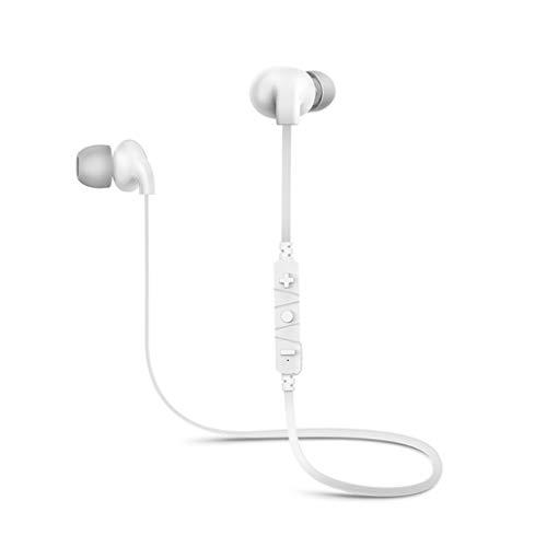 YJSZZ Bluetooth Headset Drahtlose Binaurale Sport Lauf Ohrstöpsel In-Ear Lange Standby-Handy Universal Hängende Ohr Tragen Hängenden Hals (Weiß) -