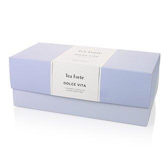 Tea Forte Dolce Vita - Coffret assortiment thé noir, thé vert, thé blanc 20 pyramides by Tea Forté